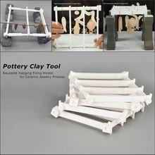 Reusável pendurado acendimento titular para cerâmica processo de jóias cerâmica argila ferramenta de alta temperatura resistente fio de tungstênio para a escolha