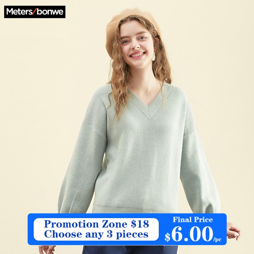 Metersbonwe  Cotton Knitted Sweater Women Pullovers Turtleneck Autumn Winter Basic Women Sweaters Korean Style Slim Fit 1