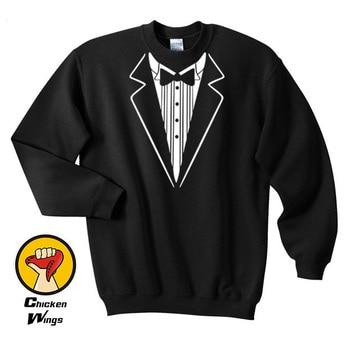 цена Tux Shirt, Tuxedo Shirt, Groomsmen Shirt, Groomsmen Gift, Best Man Shirt Crewneck Sweatshirt Unisex More Colors XS - 2XL онлайн в 2017 году