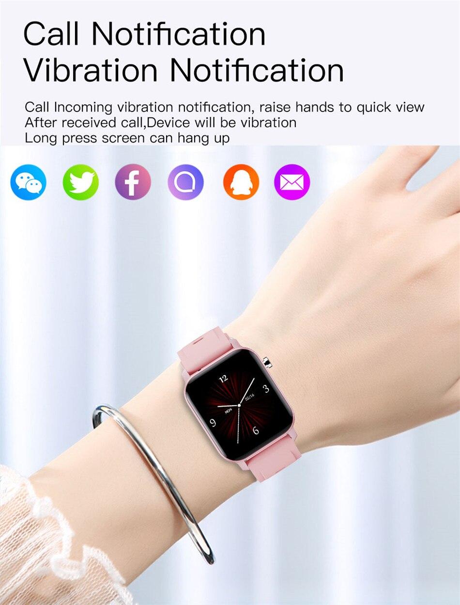toque completo relógio eletrônico de fitness rastreador
