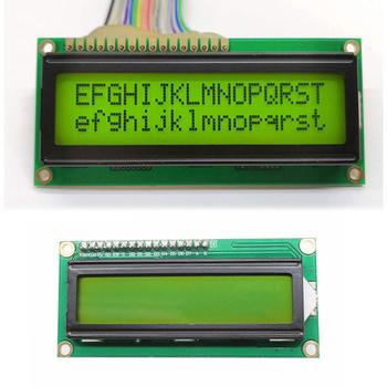 LCD1602 1602 moduł tło green screen 16 #215 2 znaków wyświetlacz LCD Module 1602 5V tło green screen tanie i dobre opinie Junejour CN (pochodzenie) Elektryczne Cyfrowy tylko
