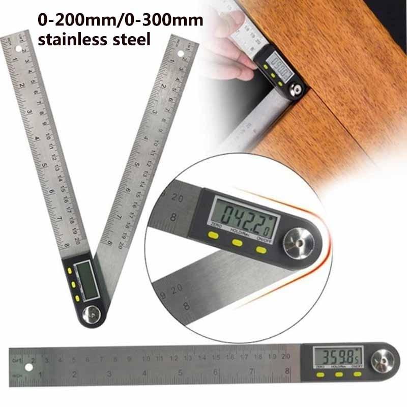 300 мм 12 дюймов цифровой транспортир угловая линейка 200 мм 8 дюймов угломер измеритель из нержавеющей стали 360 градусов Гониометр инклинометр