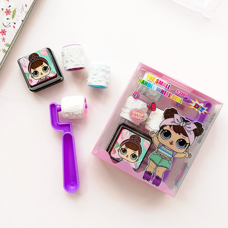 Милые куклы для девочек, детские DIY скрапбукинги, детские роликовые штампы, набор, мультяшный сюрприз, каваи, Детские штампы, скрапбукинг, награда, игрушки, принадлежности