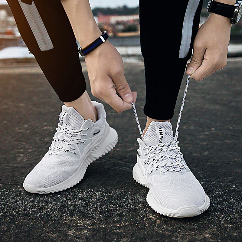 Fashion Men s Shoes Portable Breathable Running Shoes 44 Large Size Sneakers Comfortable Walking Jogging Casual