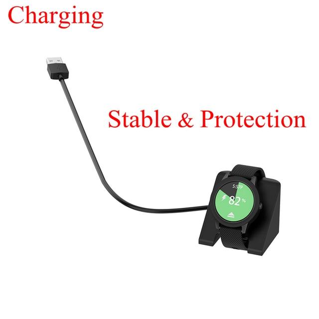YUEDAER 1M chargeur Dock pour Garmin Fenix 5 5X5 S 6 6S 6X Plus câble USB de charge pour Garmin Vivoactive 3 4S chargeur cuivre ABS