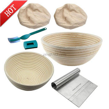 6Pcs Bread Banneton Proofing Basket Baking Bowl Dough With Bread Lame Liner and Scraper Tool for Bakers Proving Baskets