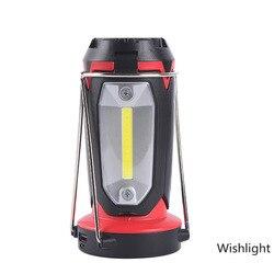 LED COB Camping lampe extérieure étanche COB lumière de travail USB Rechargeable randonnée déformable travail d'urgence éclairage lanterne nouveau