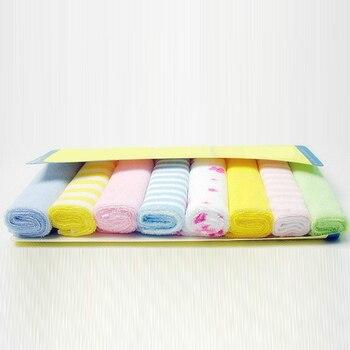 Solo suave con pequeños cuadrados lindo bebé toalla pañuelo para Bebé chico niños alimentación baño lavado de cara