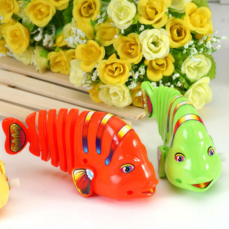 Create Swing Chain Shake Meaning Fish Clockwork Toy Will Seven Color Tail Baby Unisex Children's Toy Non-Wholesale