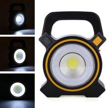 купить DC 5V 30W LED COB Rechargeable Flood Light Outdoor Camping Hiking Emergency Portable Solar Lamps дешево