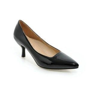 Image 4 - ZawsThia talons hauts femmes pompes talon mince classique jaune violet sexy dames bureau carrière chaussures femme robe chaussures talons aiguilles