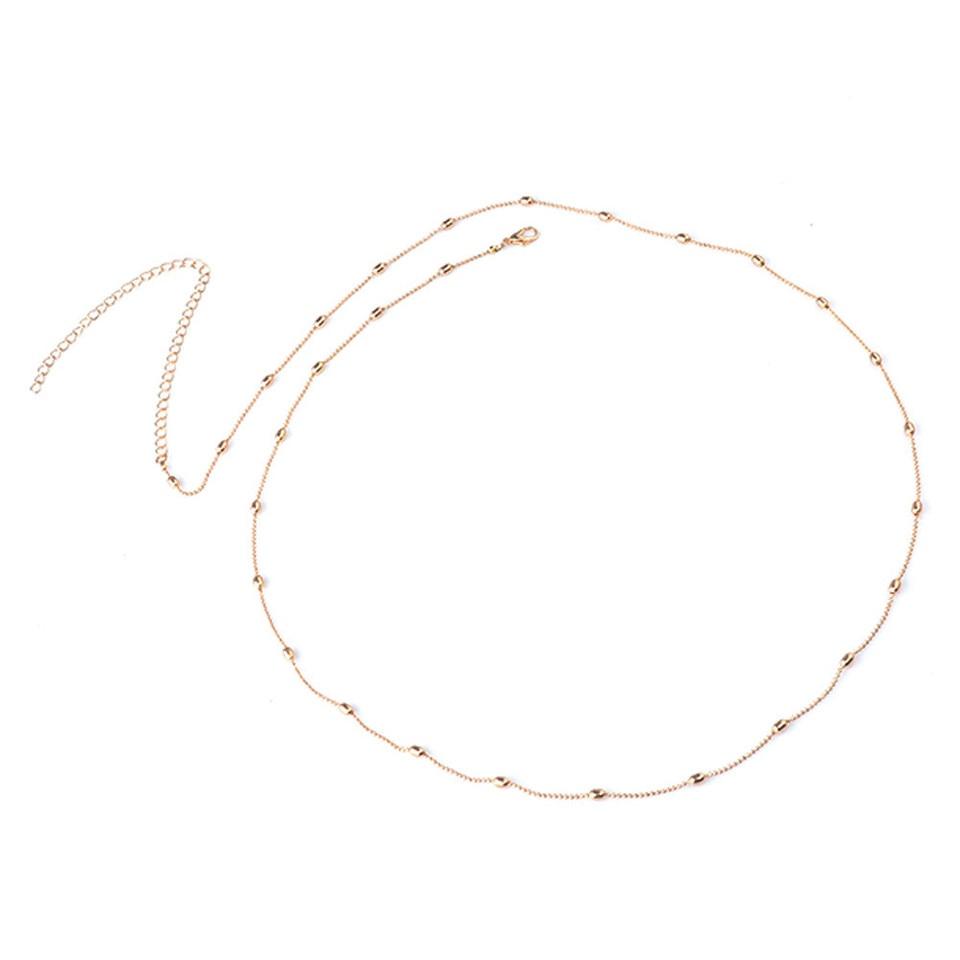 Silver Gold Tone LOYALLOOK 8PCS Belly Waist Chain Bikini Body Chain Women Charm Layered Necklace Crossover Bikini Body Chain Necklace Summer Beach Body Jewelry Set