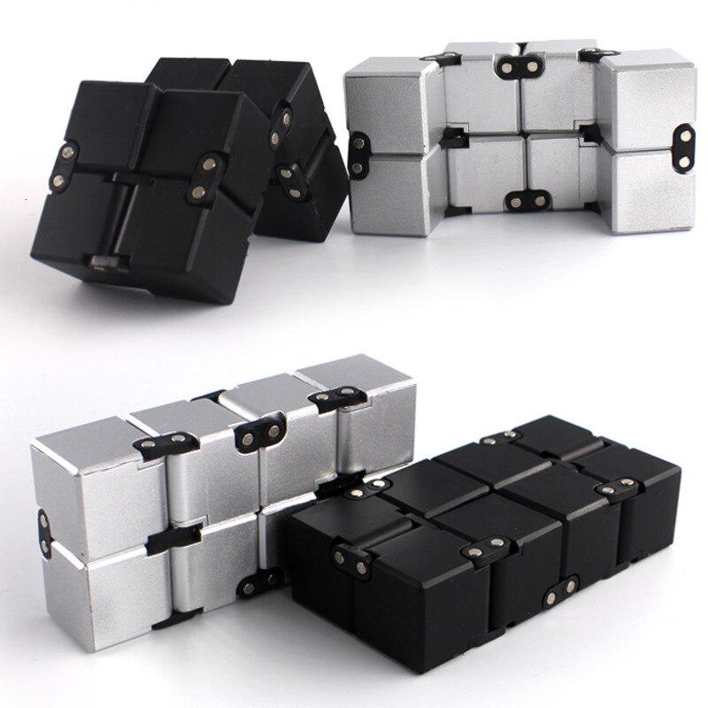 Original néo infini magique Cube doigt jouet bureau bascule Cube Puzzle soulagement du Stress Cube bloc jouet éducatif pour enfants adultes