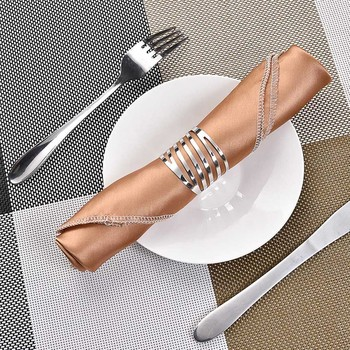 12pcs Back Pattern Wedding Napkin Rings Table Decoration Hollow Out Family Gatherings Everyday Use Buckle Holder - discount item  27% OFF Kitchen,Dining & Bar