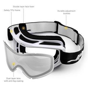 Image 4 - MAXJULI ماركة المهنية تزلج نظارات مزدوجة الطبقات عدسة مكافحة الضباب UV400 نظارات التزلج التزلج الرجال النساء نظارات واقية من الثلج