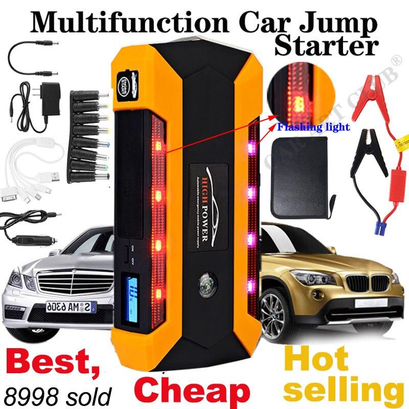 Démarreur de saut multifonction 89800mAh 12V 4USB 600A chargeur de batterie de voiture Portable démarrage d'urgence batterie externe Kit d'outils démarreur