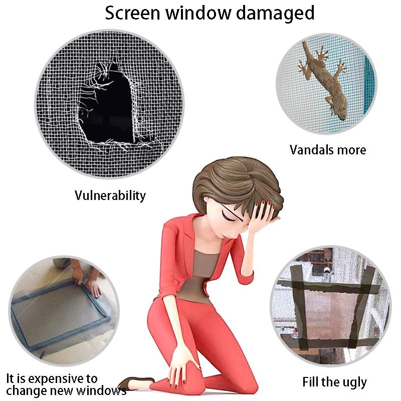 20pcs/Set Screen Repair Stickers Fix Net Mesh Window Screen for Home Anti Mosquito Fly Bug Repair Screen Patch Stickers 3