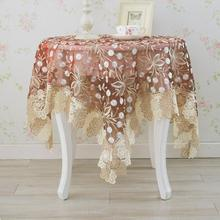 Thai embroidered table cloth lace tablecloth cover European small glass yarn