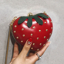 2019 Cute Women Shoulder Bags designer Mini Crossbody Fashion Girl strawberry Bag Ladies Chain Purse Clutch PU Red Handbag Small