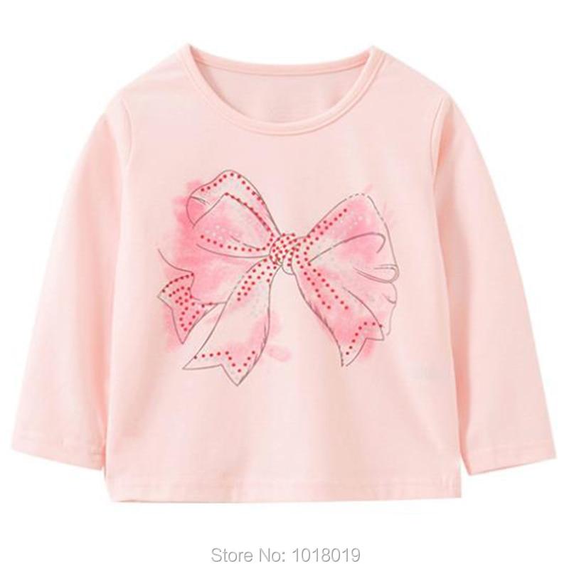 Brand 100% Cotton Baby Girls t shirts 1-7Y Kids Clothing Clothes Children Long Sleeve t-shirt Girls Blouses Undershirt Tops 2020 2