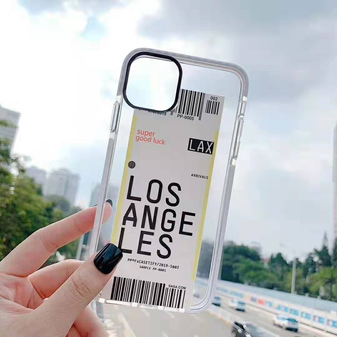 H92bd382e7da54f52abea6df0bfe03974A - Toronto New York Luxury Air Tickets Bar code Label case for iPhone 11 Pro XS Max XR 6s 7 8 Plus Los Angeles 3D Color Clear cover