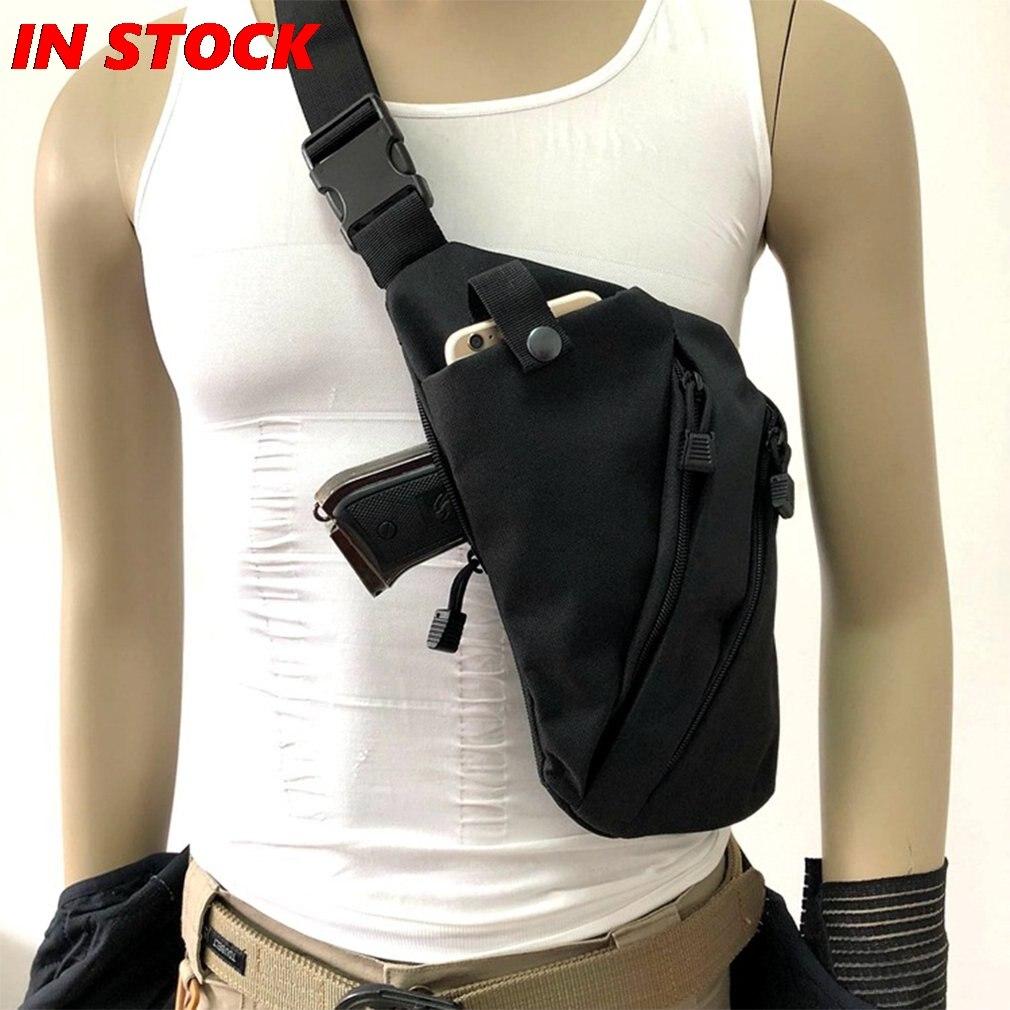 Многофункциональная Скрытая тактическая сумка для хранения пистолета, кобура, Мужская Левая Правая нейлоновая сумка на плечо, противоугон...
