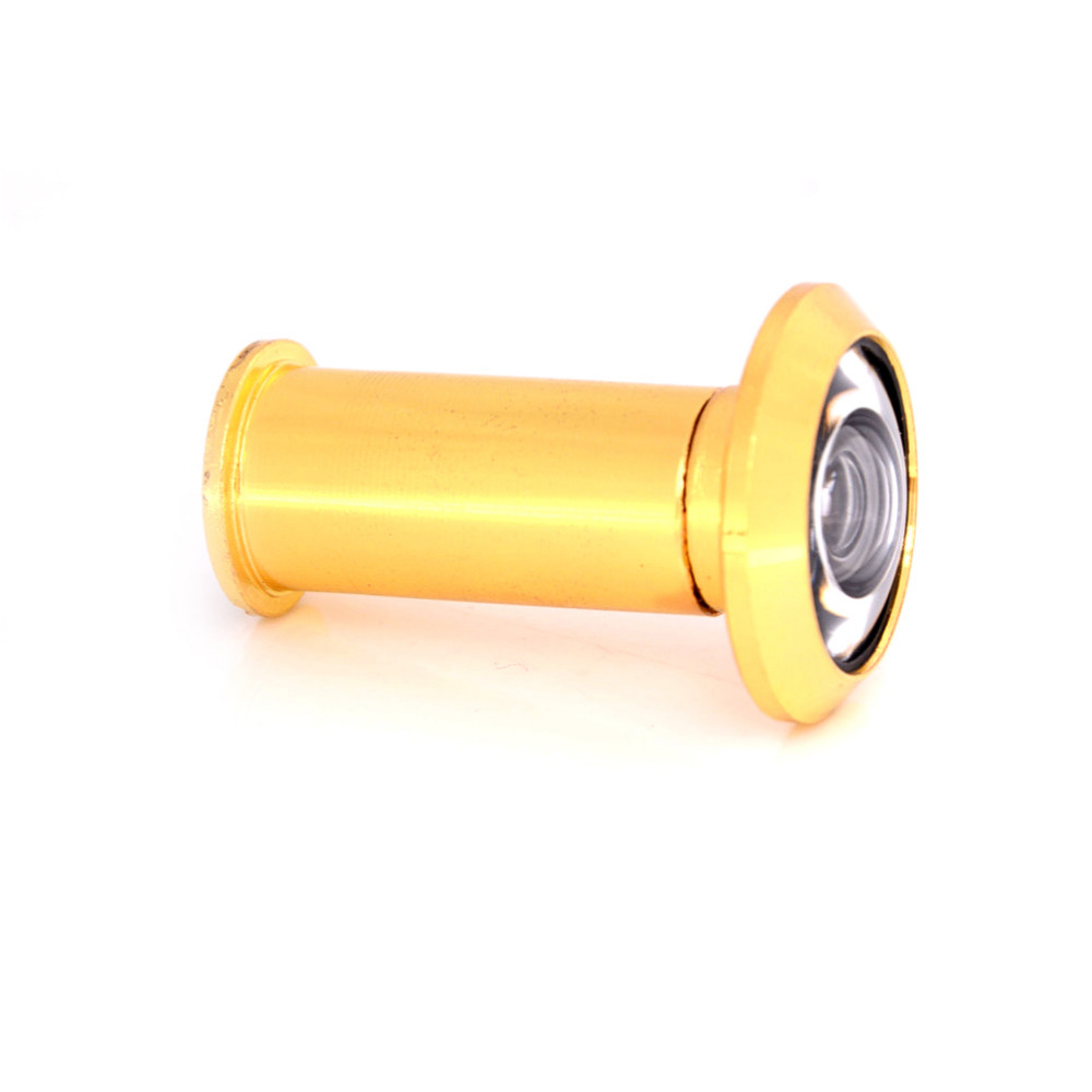 Door Viewer Gold-plated For Furniture Hardware 200 Degree Wide Angle Peephole