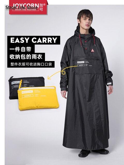 Long Style Women Raincoat Full Body Windproof Motorcycle Rain Coat Jacket Riding Poncho Men Yellow Gabardina Mujer Birthday Gift 4