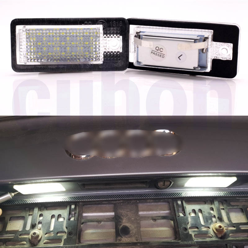 2pcs Canbus No Error LED License Number Plate Lamps Light Fit <font><b>Audi</b></font> A3 A4 A6 <font><b>A8</b></font> B6 B7 S3 Q7 image
