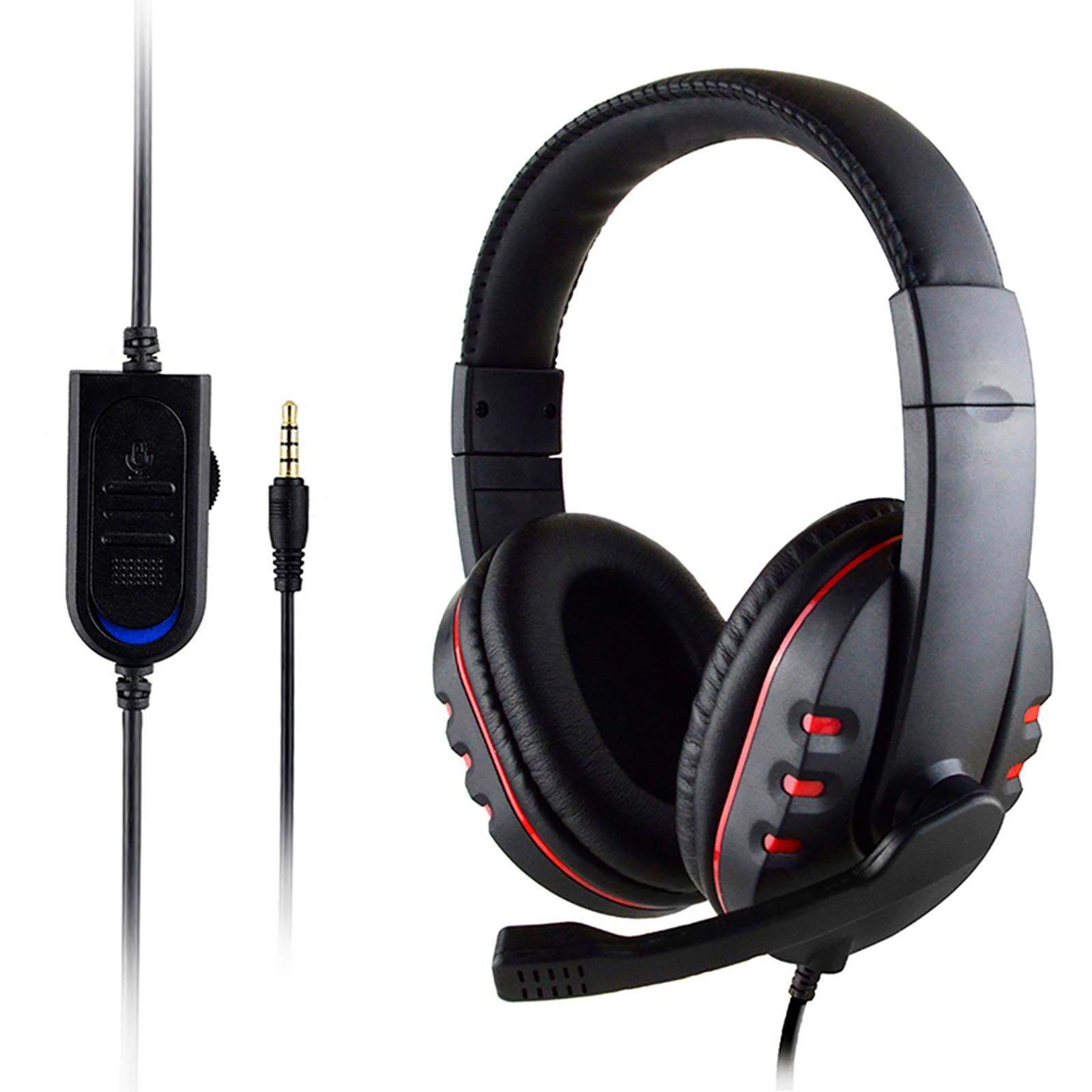 SOONHUA 3 5mm Wired Gaming Headset Deep Bass Game Earphone Computer Headset Gamer Headphones With HD Microphone