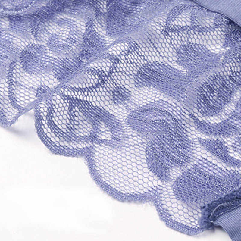 مثير النساء سراويل الدانتيل ملخصات حجم كبير سراويل داخلية ملابس داخلية شفافة الإناث سراويل 3XL غير مرئية سيور # F