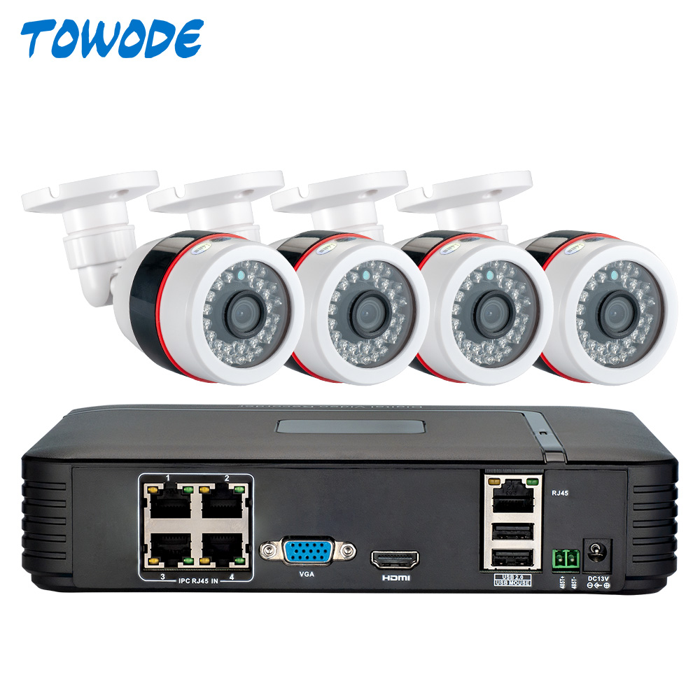 Face Recognition Full HD 1080P 4CH NVR CCTV System 2MP FHD Outdoor IP Camera 4CH 1080P PoE Security Camera Kit HDMI VGA P2P