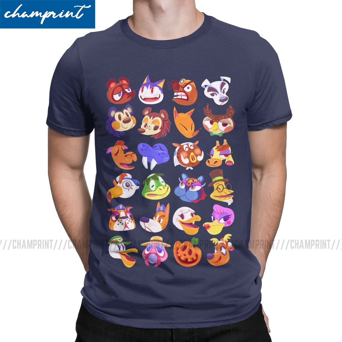 Amazing Meet The Neighbors T-Shirt for Men Crew T Shirt Animal Crossing New Leaf Game Short Sleeve Tee Shirt Plus Size Tops image