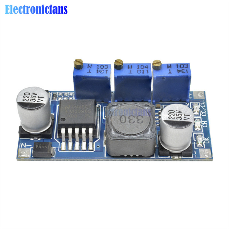 2PCS LM2596 DC-DC Step-down Adjustable CC//CV Power Supply Module LED driver