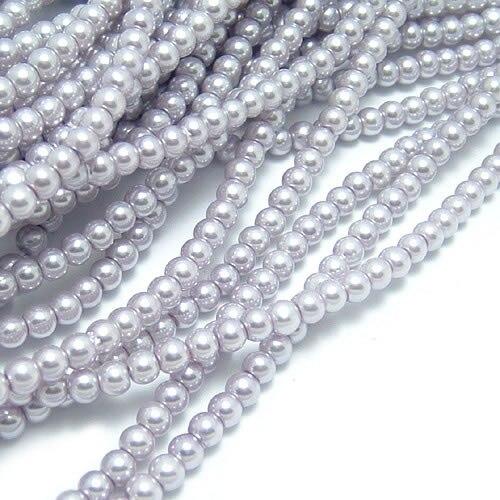 A011) 3 мм 4 мм 5 мм 6 мм 8 мм 10 мм 12 мм 14 мм 16 мм черный белый серый коричневый тон Круглые Стеклянные окрашенные цветные бусины имитация жемчуга - Цвет: Silver Gray