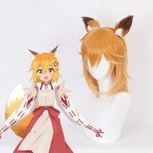 Anime Sewayaki Kitsune Pas Senko-San Cosplay Perruques Senko San Cosplay Perruque Synthétique Perruque Halloween Tatillonne Kitsune Senko-San