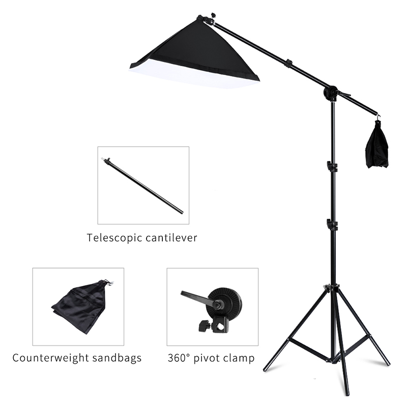 Image 2 - Photography Studio Softbox Lighting Kit Arm for Video & YouTube Continuous Lighting Professional Lighting Set Photo Studio-in Photo Studio Accessories from Consumer Electronics