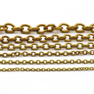 Necklace Wheat-Chain O-Ring-Bags 1-Meter Solid Brass Chain-Link Straps-Parts Diy-Accessories