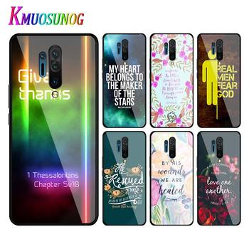 for OnePlus 8 Pro Soft Phone Cover Biblical scriptures Style for OnePlus 7T 7 6T 6 5T Pro Super Bright Phone Case Capa image