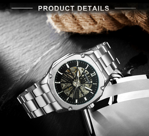 Image 4 - WINNER Official Vintage Automatic Watch Men Skeleton Mechanical Mens Watches Top Brand Luxury Classic Dress Clock reloj hombre