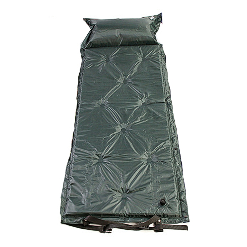 Portable Picnic Beach Air Mattress With Storage Bag Moisture-proof Camping Roll Pad Bed With Pillow Mattress