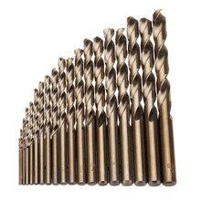 19PCS 1 10mm HSS M35 Kobalt Twist Drill Bit Set für Metall Holz Bohren für Drillpro Werkzeuge set Kit Teile Zubehör