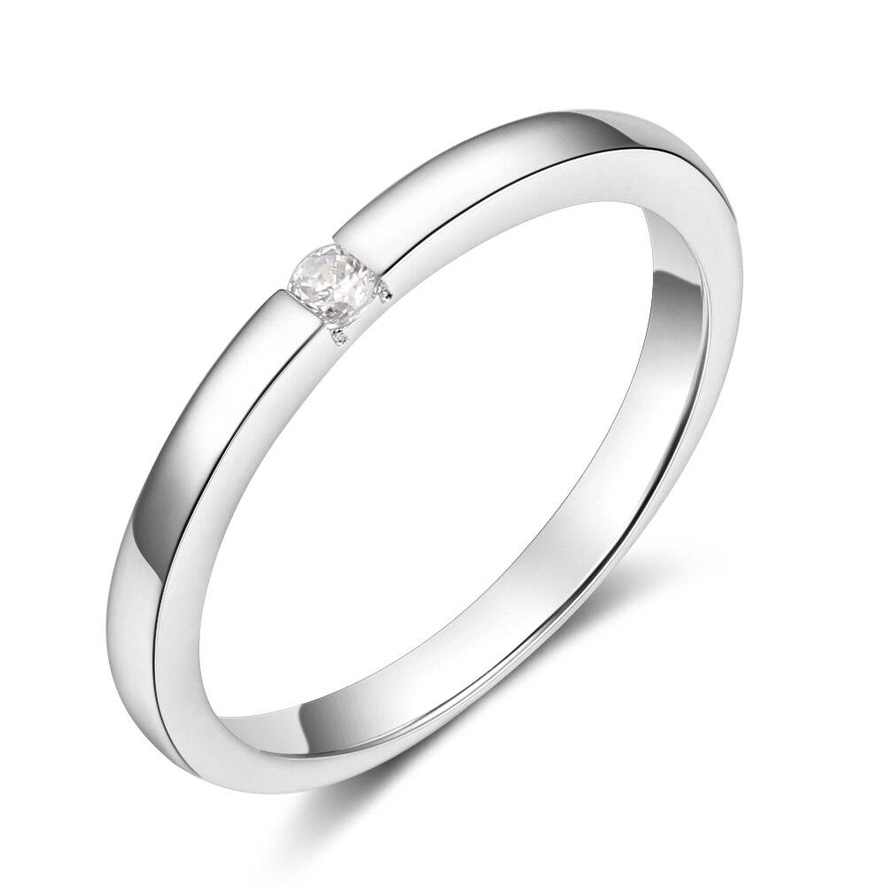 Promise кольцо из стерлингового серебра 925 с кубическим цирконием классические обручальные кольца для женщин подружки невесты подарки(JewelOra RI101321 - Цвет основного камня: R3999