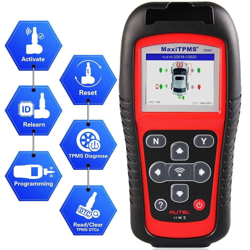 AUTEL MaxiTPMS TS501 Tire Pressure Tool TPMS Sensor Diagnostic OBD 2 Diagnose, Read/ clear TPMS DTCs, Sensor Activation, Program|Pressure & Vacuum Testers| - AliExpress