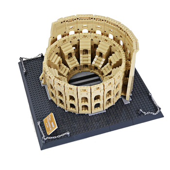 Wange 5225 Architecture City Italy Rome Colosseum Building Blocks Sets Bricks Classic City Skyline Model Kids Toys For Children