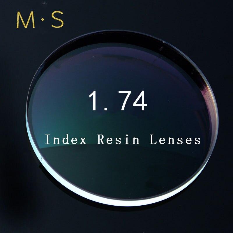 Lentilles de Prescription d'index 1.74 Anti-lumière bleue ordinateur GogglesCR-39 lentilles de verres asphériques de résine pour la myopie/hyperopie