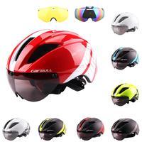 MTB Helmet with Windproof Lens Ultra-light one-piece molding Mountain Road Bike Cycling Riding Safety Helmets Bike Helmets hat