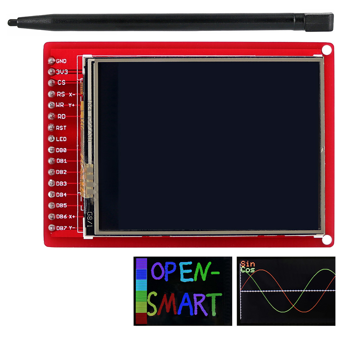 2.2 Inches TFT LCD Touch Screen Breakout Board With Touch Pen For Arduino