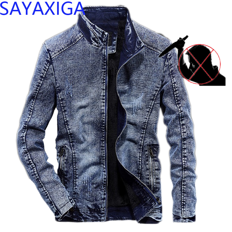 2020 New Self defense anti cut denim jacket knife stab resistant men clothing thorn cut proof civil using safety protective tops