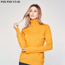 High-necked Solid Women Sweaters Pullovers Loose Knitted Autumn Winter Clothing Casual Turtleneck